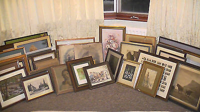 Job Lot of Over Sixty Paintings and Prints
