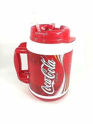 HUGE 64 oz Coca-Cola Coke Insulated Travel Cup Mug - Cold or Hot with STRAW