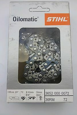 1 Chaine Tronconneuse Stihl 3/8 1,6 72 Maillons
