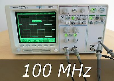 HP / Agilent 54622A 2-channel 100 MHz Oscilloscope + 2 100MHz Probe. Very clean
