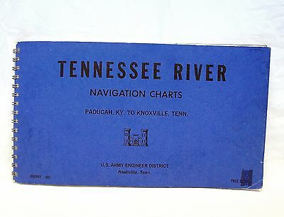 Tennessee River Navigation Charts U. S. Army Engineer January 1971 Vintage