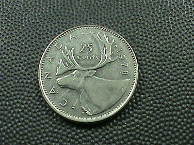 CANADA    25 cents    1978   CARIBOU