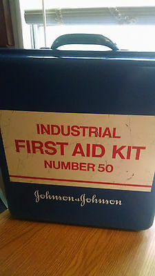 Vintage Johnson And Johnson Industrial First Aid Kit Box #50