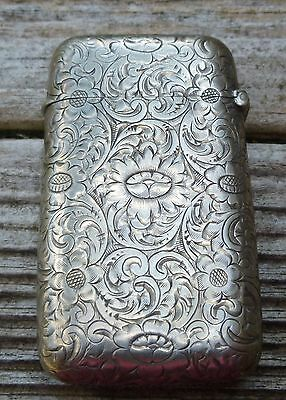 Nouveau Sterling Match Safe Dated 1904