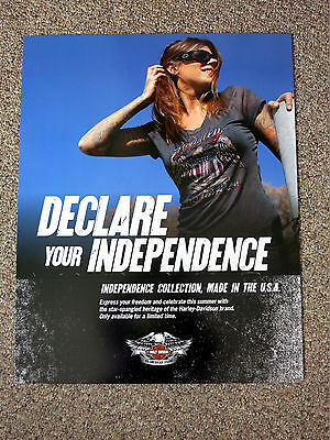 """Harley-Davidson Declare Independence Showroom Poster, 28"""" x 22"""", double-sided"""