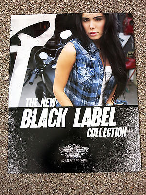 """Harley-Davidson Black Label Clothing Showroom Poster, 28"""" x 22"""", double-sided"""