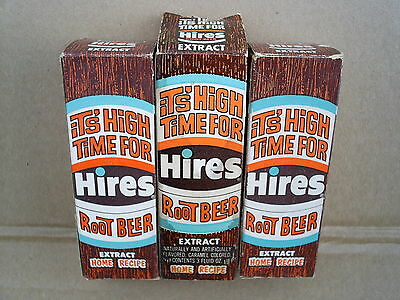 Lot of 3 - Vintage Hires Root Beer Extract Sealed 3-oz. Glass Bottle New in Box