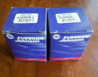 Omc Nos Bombardier Evinrude Johnson Oil Filter 0434839  434839