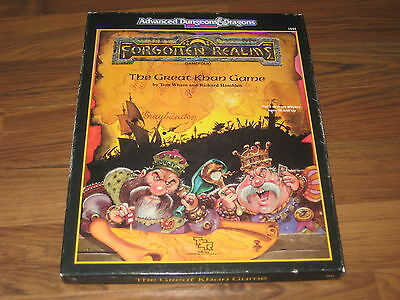AD&D 2nd Edition Forgotten Realms The Great Khan Game 1989 TSR 1044 Complete