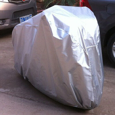 Bike Cover 190T Extra Heavy Outdoor Duty Anti-UV Waterproof Bicycle Cover Silver