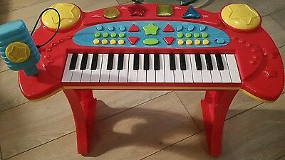 Chad Valley keyboard with stool