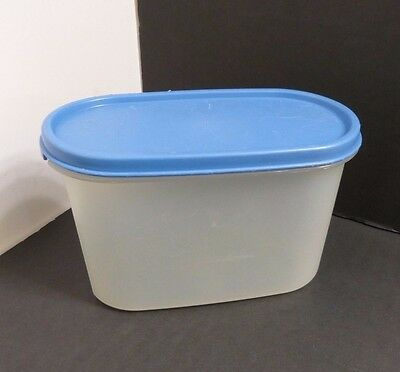 Tupperware Modular Mates Oval #2 Container 4-3/4 Cups & Blue Seal VGC