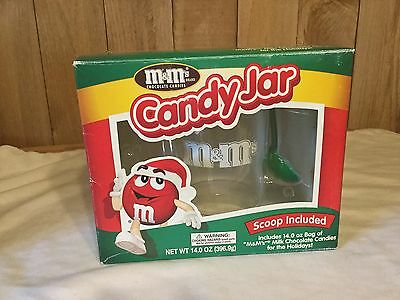 M&M's  Christmas Candy Jar, Scoop Included