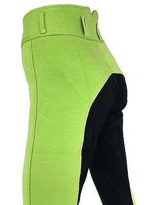 New Ladies Lime Jodhpurs, Green Jodphurs, Full Seat Suede Sizes 8-18.