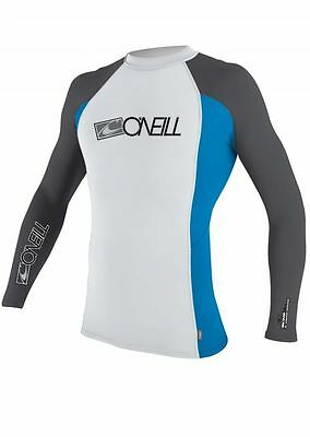 O'Neill  Adult Men's Rash Top Long Sleeved  BNWT white and blue