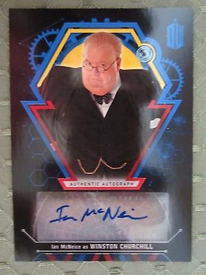 Topps Doctor Who Ian McNeice as Winston Churchill Autograph Auto 24/25