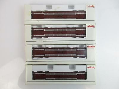 MARKLIN HO GAUGE 4740 x 2, 4741 x 2, LOW LOADERS.