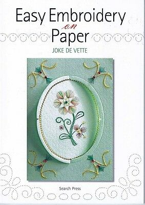 Lot of 3 Embroidery on Paper Card Making Crafts Books by Joke De Vette,  NEW
