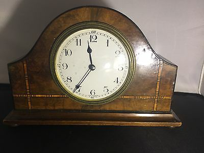 Small French Vintage Mantle Clock / Inlayed
