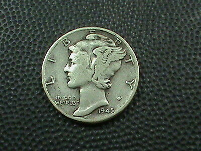 UNITED STATES     10 cents   1945      SILVER