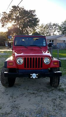 """1999 Jeep Wrangler SE 1999 Jeep Wrangler SE - 2 year old soft top - 2"""" lift with 15x8 aluminum rims"""