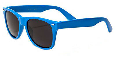 Kids Classic 80's Retro Wayfarer Beach Sunglasses Team Colors Blue