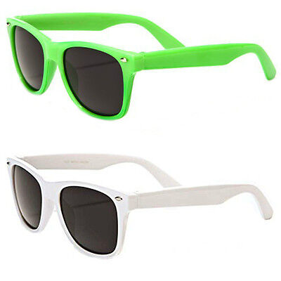 2 Pack Lot Kids Classic 80's Retro Wayfarer Beach Sunglasses
