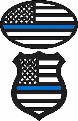 2 PACK)*BLUE LIVES Matter Flag Stickers Police Decal Window