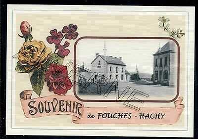 FOUCHES  -  HACHY  .... GARE ...   souvenir creation moderne serie numerotee
