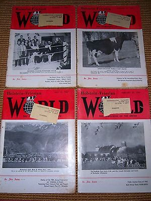 Lot Of 4 Holstein Friesian Magazines 1963 Milk Cows, Cattle (1)
