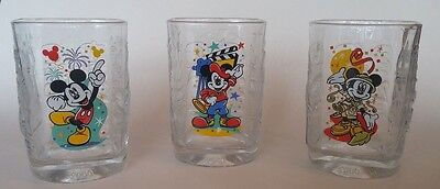 Set of 3 Glasses Disney World - McDonalds 2000 - Magic & Animal Kingdom
