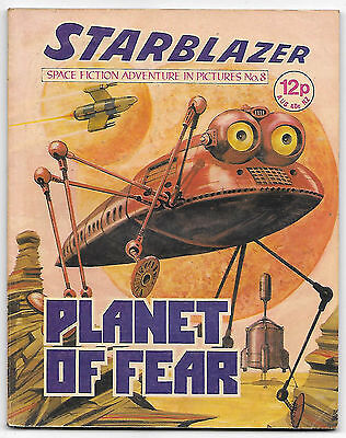 Starblazer 8 (1979) almost high grade copy - Alan Rogers artwork