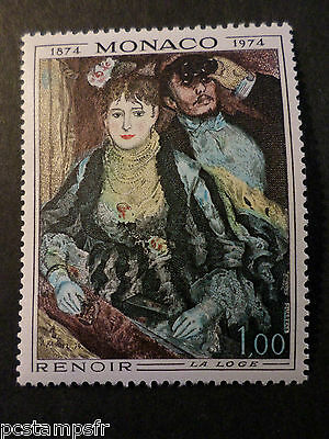 MONACO 1974, timbre 967, TABLEAU RENOIR, PAINTING, neuf**, VF MNH STAMP