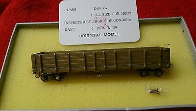 EMPIRE MIDLAND D& RGW HIGH SIDE GONDOLA HOn3 NIB 1979