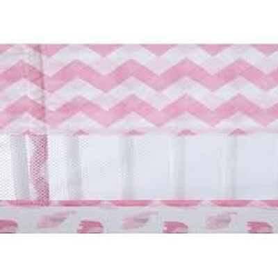 Little Love by NoJo Separates Collection Chevron Print Crib Liner, Pink/White