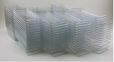 50 -  3-inch Hanging Plastic Storage Cases - Blister Boxes (Brand new clamshell)