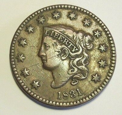 1831 Matron Head Large Cent - Nice Coin - Free Shipping