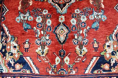 4'8 x 7'5 Fine Authentic Semi Antique Persian Tajabad Hand Knotted Wool Area Rug