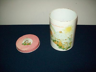 "Vintage American Greetings 1980 STRAWBERRY SHORTCAKE Tin Canister 7.5"" High"