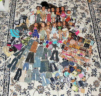 Bratz Dolls job lot Bundle Dolls with outfits and loads of shoes and accessories
