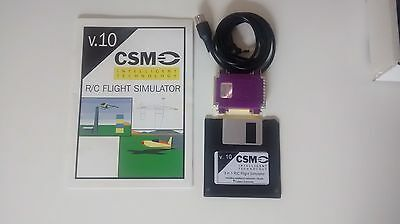 Vintage RC flight simulator CSMv10 with Futaba round buddy plug lead