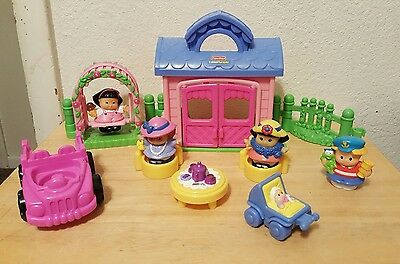 Fisher Price Little People House Garden Party  Swing Play Set
