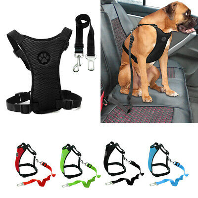 Air Mesh Dog Seat Belt Car Harness Vest Clip Lead Safety for Dogs Travel S M L