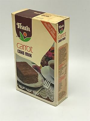 Vintage 1981 Fearn Carrot Cake Mix Sealed Advertising Box 1980s Prop Display