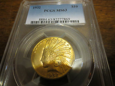 1932 $10 Gold Indian Head Eagle PCGS-MS63