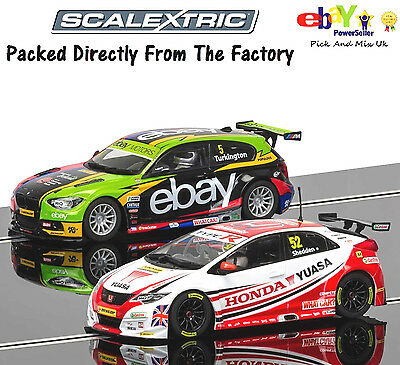 NEW IN Scalextric Slot Car BTCC Champions Twin Pack BMW & Honda Civic C3694A
