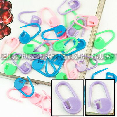 30pcs Knitting Crochet Locking Stitch Markers Holders Clip Craft Mix Color