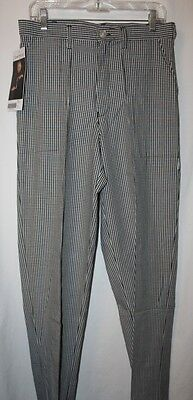 NWT Chef Works Men's BWCP Chef Pants---Size 30---NEW