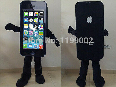 New Smashed iphone Mascot Costume Phone Adult Cracked Party Fancy Dress