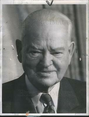 1963 Press Photo President Herbert Hoover United States - RSC78471